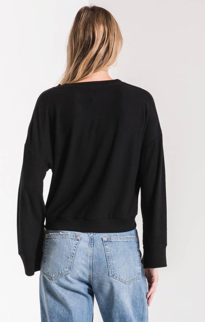 L Slit Slv V Neck Sweater Zt191591 Mypolitesociety