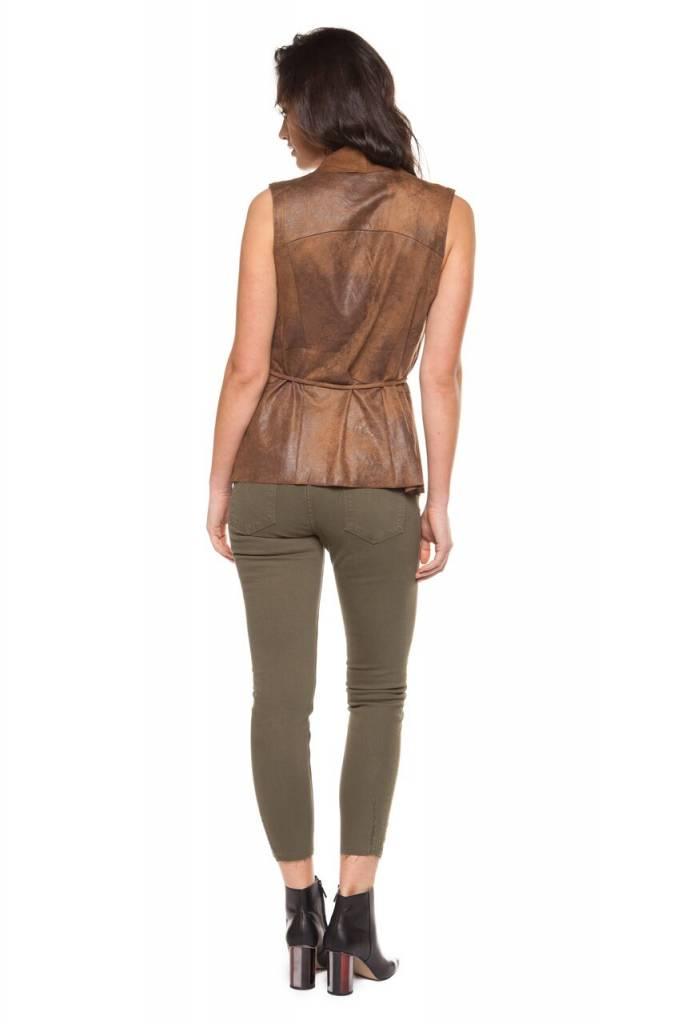 DEX CLOTHING TIE WAIST LAPEL VEST 1229261