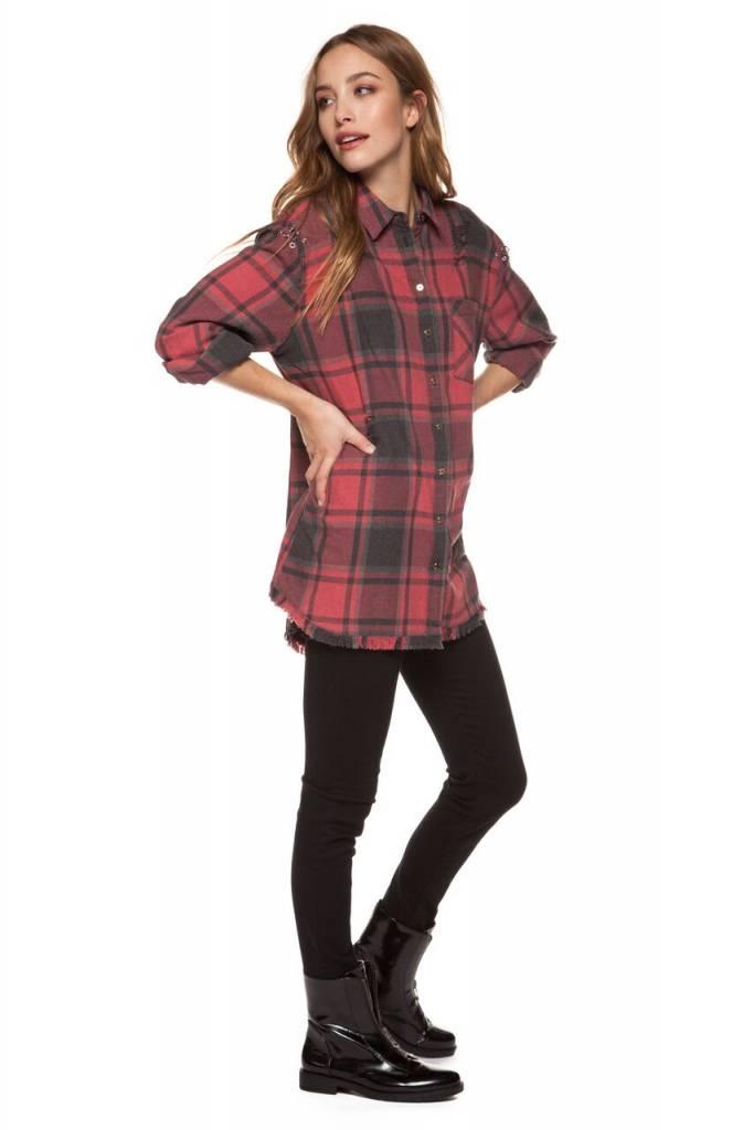 DEX CLOTHING 3/4 SL PLAID SHIRT 1223251