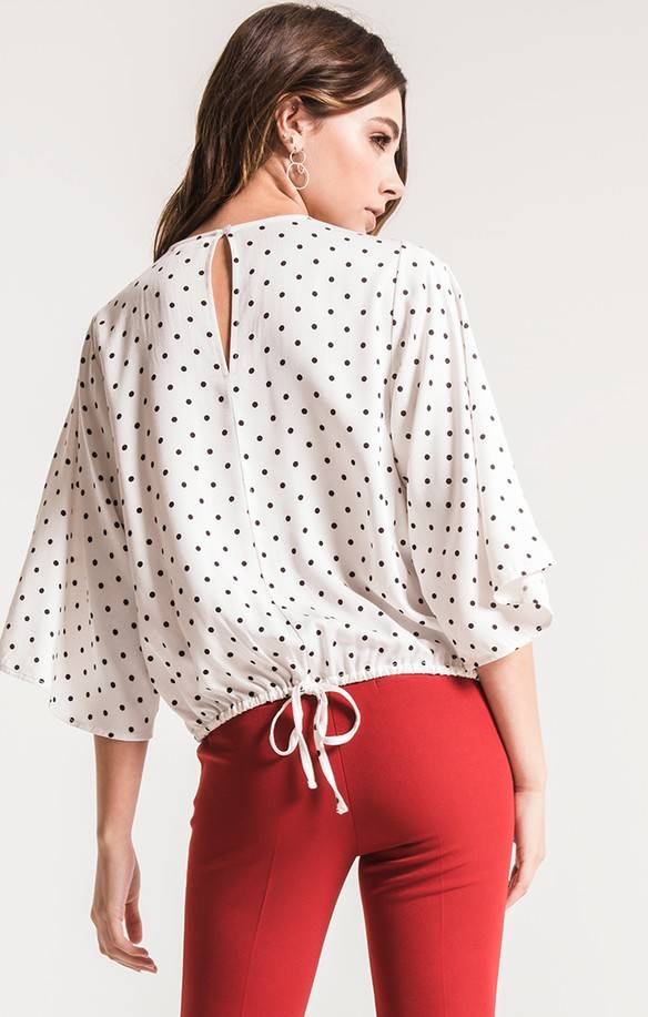 "BLACK SWAN ""LAILA"" L/S POLKA DOT TOP BT183497"