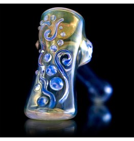 Ginny Snodgrass-Gietl SOLD Ginny Snodgrass-Gietl Clear Jewel Glass Hammer Dry Pipe 1