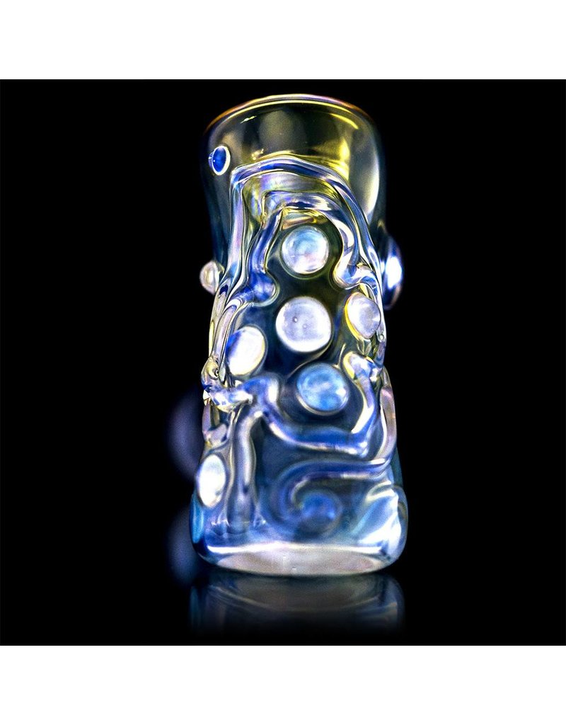 Ginny Snodgrass-Gietl Ginny Snodgrass-Gietl Clear Jewel Glass Hammer Dry Pipe 2