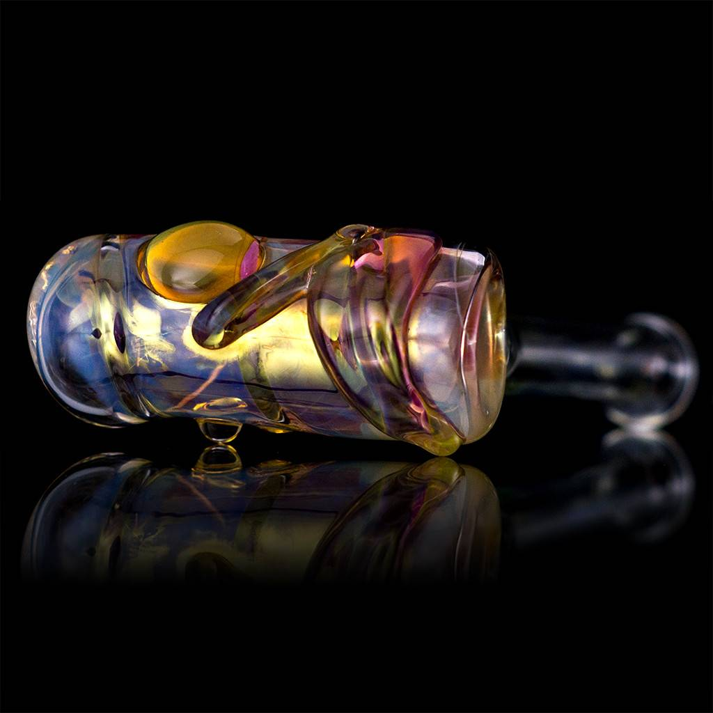 Bob Snodgrass Bob Snodgrass Music Note Glass Hammer Dry PIpe