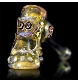 Ginny Snodgrass-Gietl SOLD Ginny Snodgrass-Gietl Owl Glass Dry Pipe 2