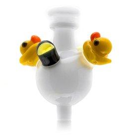 Ryno SOLD Ryno White Bubble Cap w/ 2 Ducks MxR