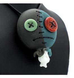 Peter Muller x Ryno SOLD Muller Azul / Portland Gray Doll Head Pendant MxR