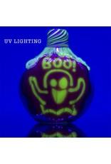 KGB x Sarah Marblesbee FF UV Ghost Pumpkin Chillum Donut KGB x Sarah Marblesbee