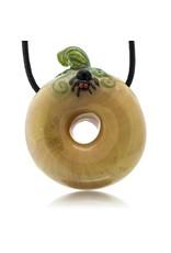 KGB x Sarah Marblesbee FF UV Pumpkin #8 Donut Pendant KGB x Sarah Marblesbee