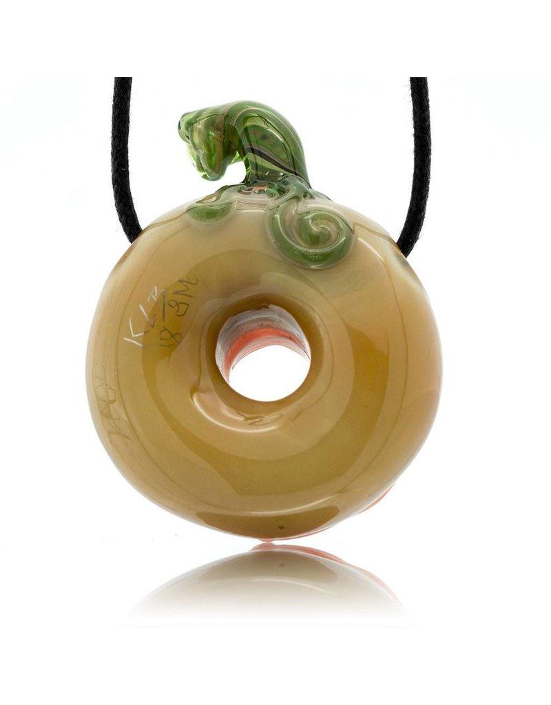 KGB x Sarah Marblesbee FF UV Pumpkin #7 Donut Pendant KGB x Sarah Marblesbee