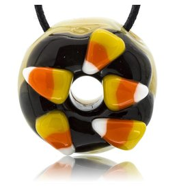 KGB x Sarah Marblesbee SOLD FF Candy Corn Pendant KGB x Sarah Marblesbee