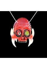 Salt x AKM Gold Ruby over Poppy Creature Skull Pendant Dark Arts
