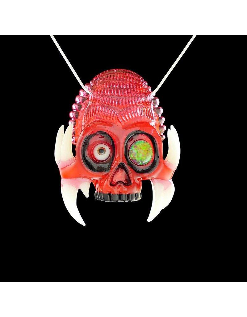 SOLD Salt x AKM Gold Ruby over Poppy Creature Skull Pendant Dark Arts