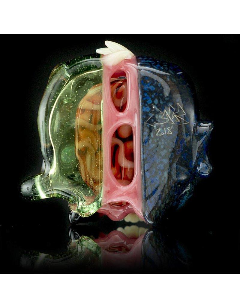 Salt x AKM Hydra / Portland Gray Split Creature Skull Pendant Dark Arts