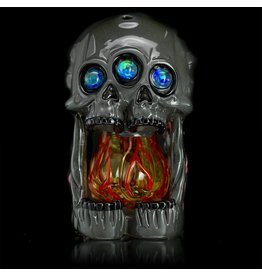 SOLD Salt x AKM 3rd Eye Open Mouth Dewar Skull
