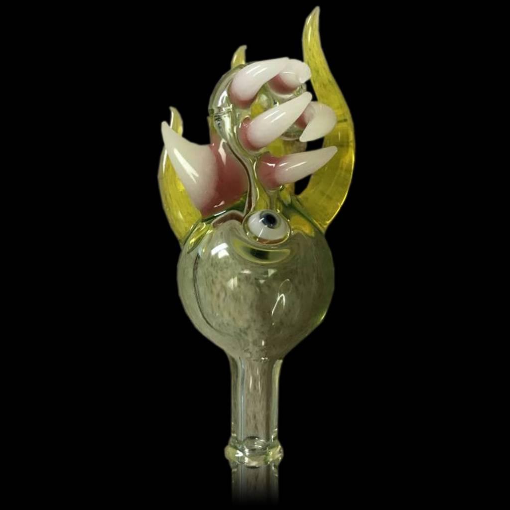 SALT Salt Glass Yellow Transparent / Illuminati Bubble Cap Dark Arts