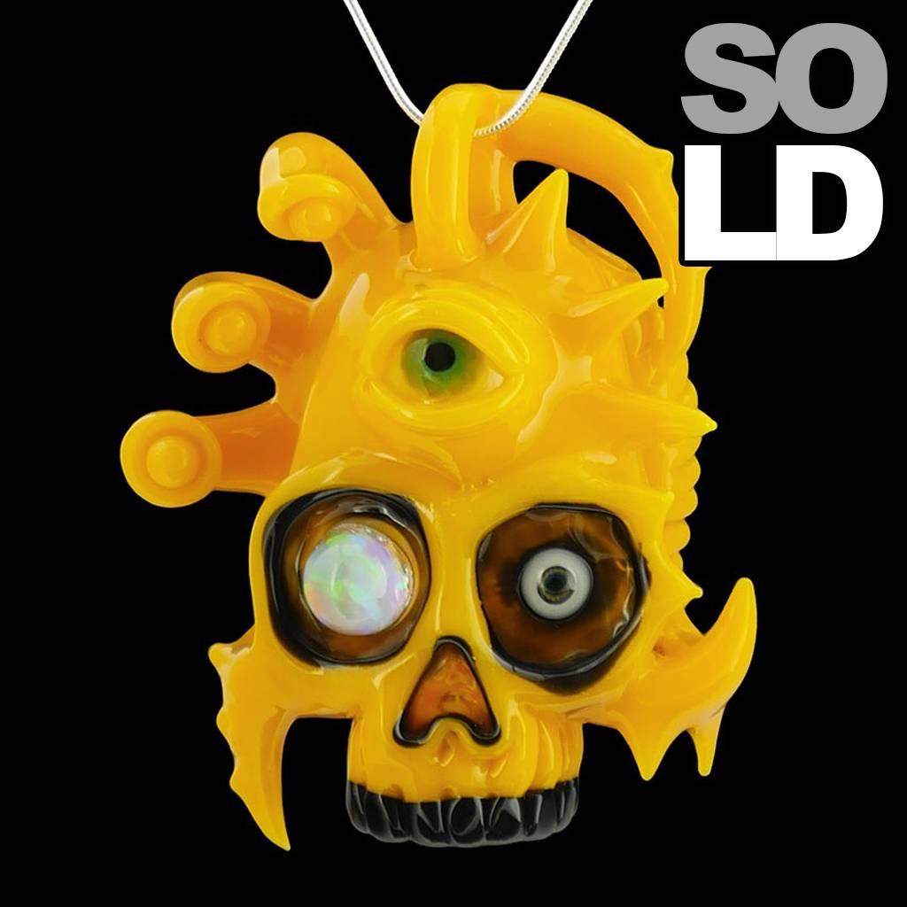 Salt x AKM NS Cadmium Yellow Creature Skull Pendant Dark Arts