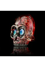 AKM AKM Split Color Fade Skull Pendant Gold Ruby / Neutral / Pomegranate