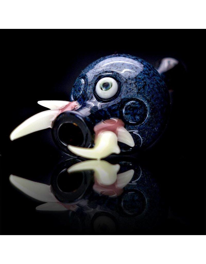 SALT Salt Glass Black / Bluegreen Bubble Cap Dark Arts