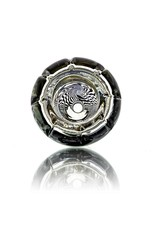 Mystic Family Glass Four Section Cold Cut 14mm Glass Bowl Slide w/ UV Encalmo by Mystic Family Glass
