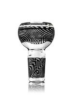Mystic Family Glass 14mm (M) Bong Bowl Slide Cold Cut Bubble w/ BLACK Linework by Mystic Family Glass