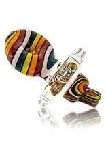 Mystic Family Glass Color Lined Cold Cut Donut Directional Carb Cap by Mystic Family Glass