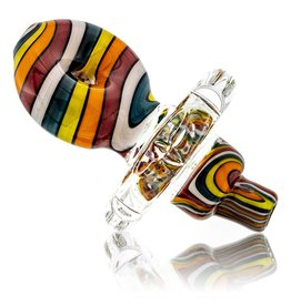 Mystic Family Glass SOLD Color Lined Cold Cut Donut Directional Carb Cap by Mystic Family Glass