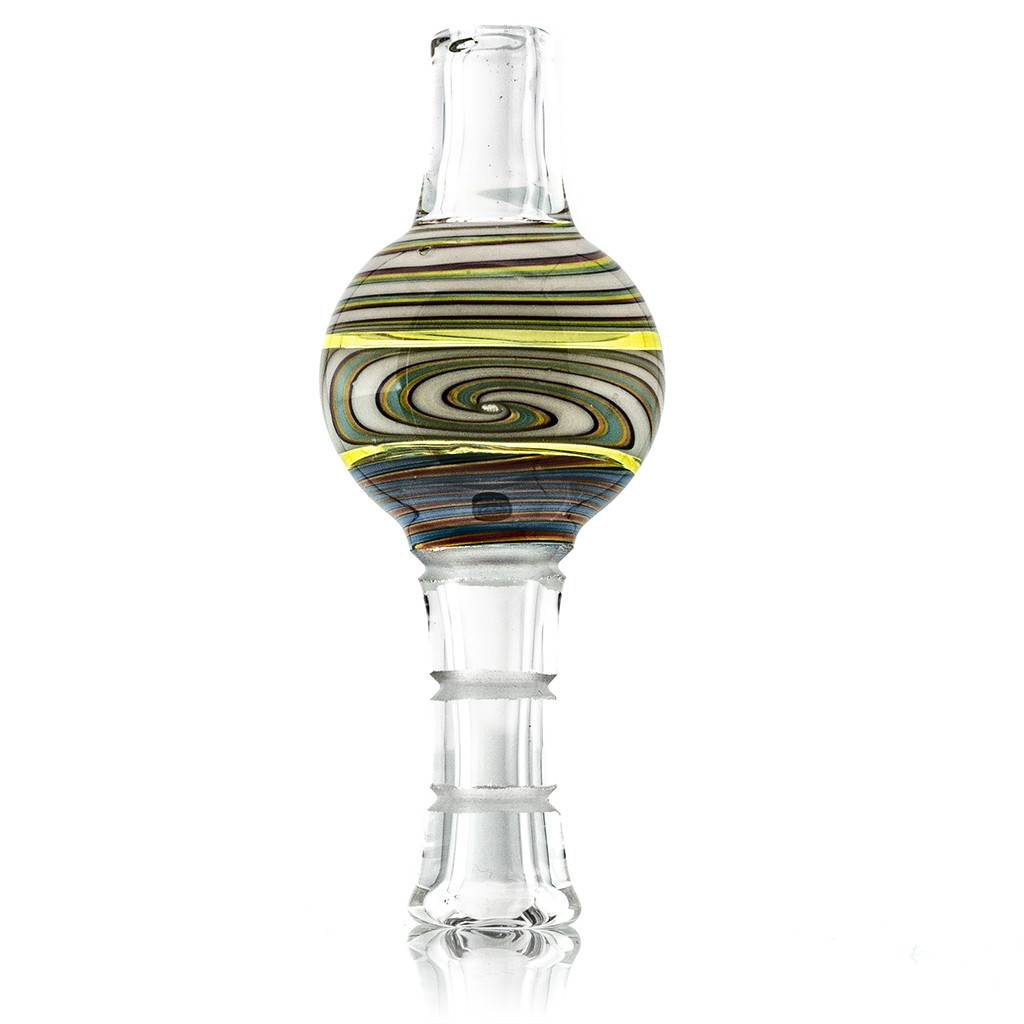 Mystic Family Glass Fully Worked UV Cold Cut Bubble Carb Cap by Mystic Family Glass