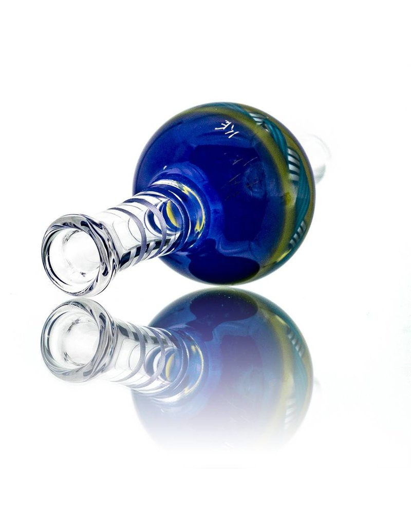 Mystic Family Glass 30mm Bubble Carb Cap Ribbon Coil Cold Cut by Mystic Family Glass