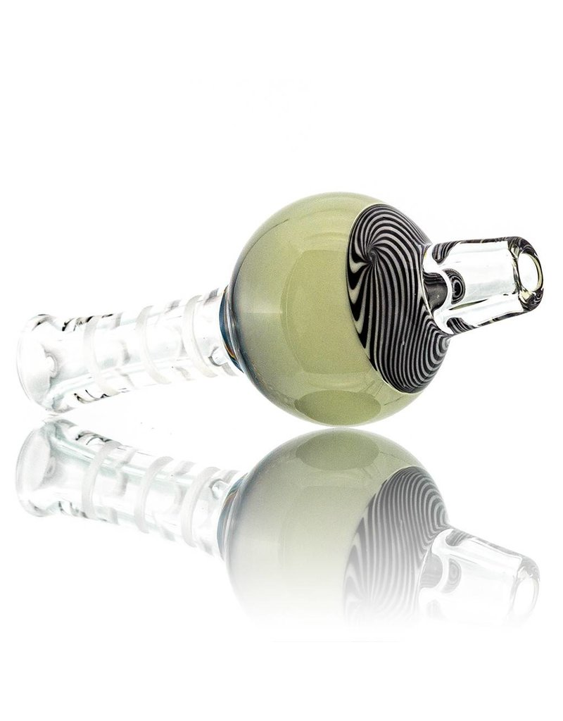 Mystic Family Glass UV Section Cold Cut Bubble Carb Cap by Mystic Family Glass