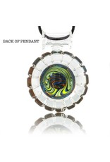 Mystic Family Glass 3 Section Circle Cold Cut Glass Pendant by Mystic Family Glass