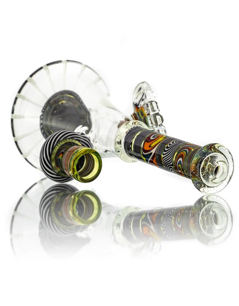 Mystic Family Glass Fully Worked Cold Cut UV 14mm Banger Hanger by Mystic Family Glass
