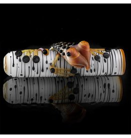 Kevin Engelmann SOLD Witch DR. Frosted Birch Frog Glass Chillum One Hitter  (D)