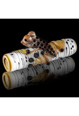 Kevin Engelmann Witch DR. Frosted Birch Frog Glass Chillum One Hitter  (C)