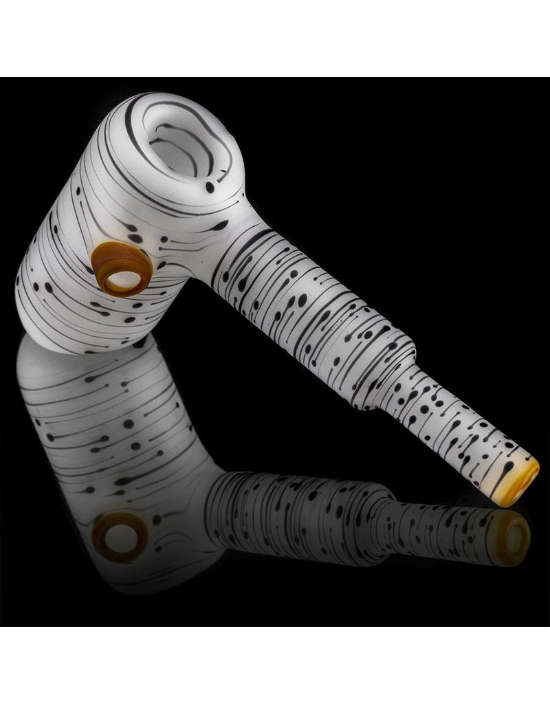 Kevin Engelmann Witch DR. Frosted Glass Birch Dry Hammer and Frog Chillum Set