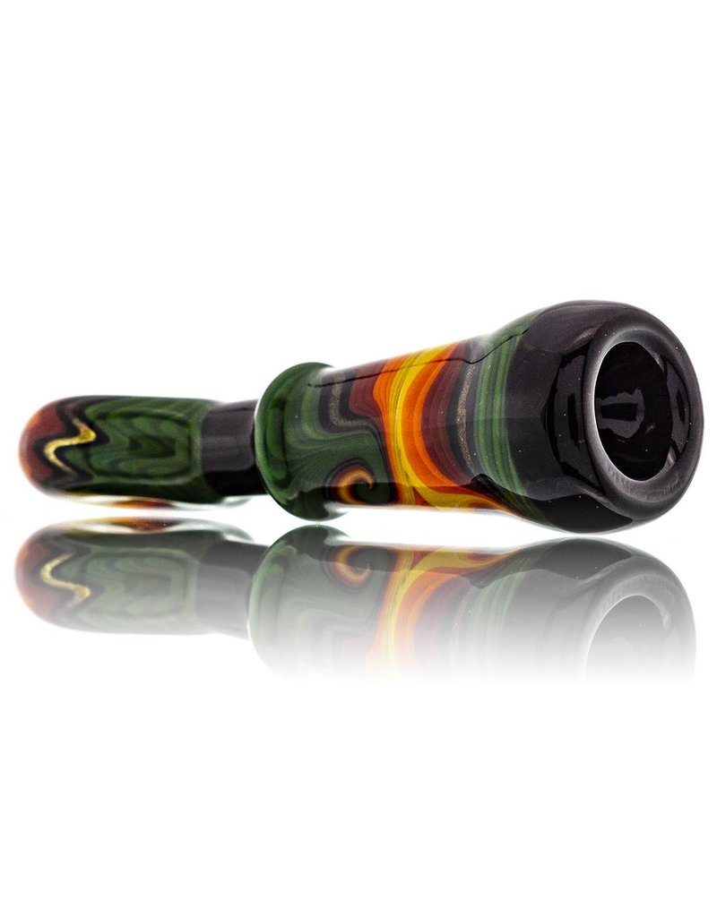 Fully Worked Glass Chillum One Hitter by Mike Fro (G)