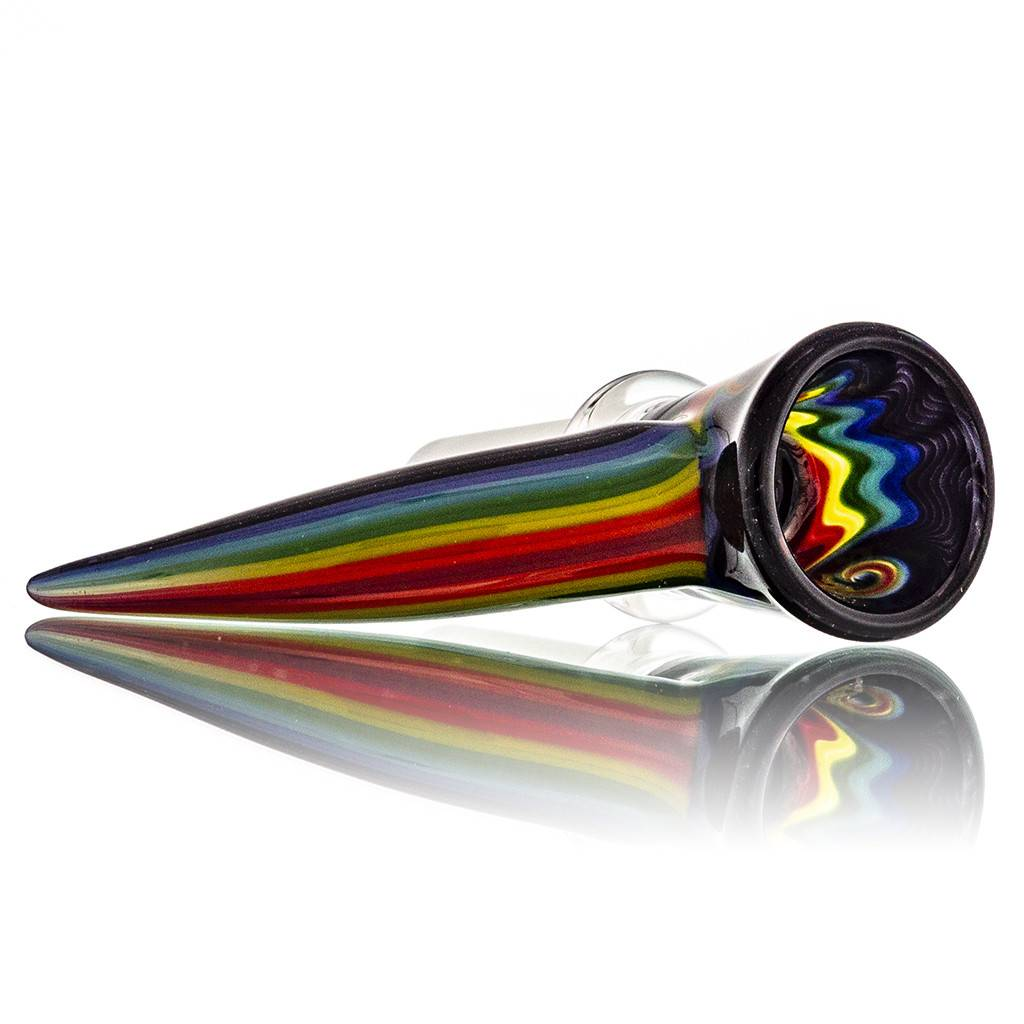 14mm Horn Handle Glass Bowl Slide by Mike Fro (C)