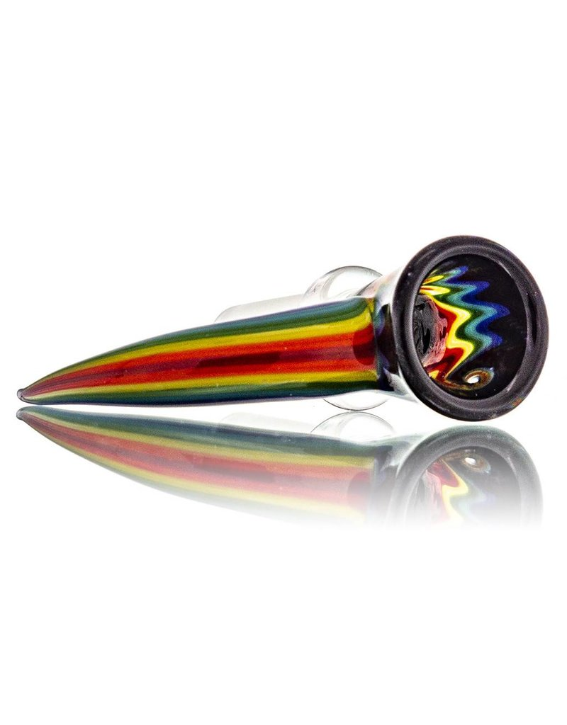 14mm Horn Handle Glass Bowl Slide by Mike Fro (G)