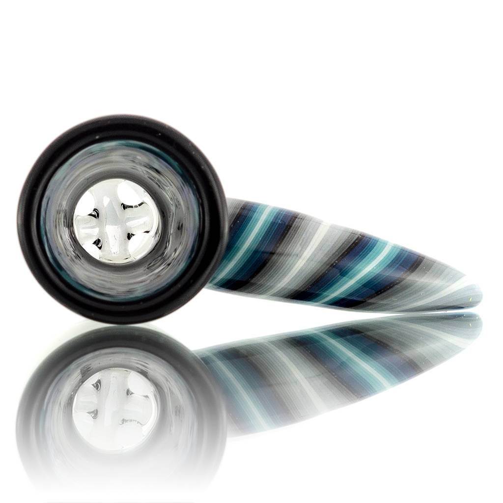 18mm Horn Handle Glass Bowl Slide by Mike Fro (A)