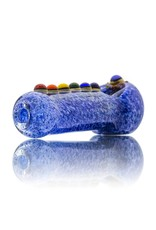 Chakra Glass Spoon Dry Pipe by Sarah Marblesbee (B)
