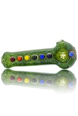 Chakra Glass Spoon Dry Pipe by Sarah Marblesbee (C)