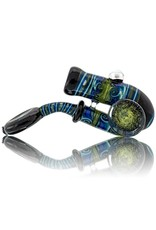 Fully Worked Glass Sherlock Dry Pipe by Mike Fro (A)