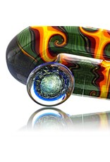 Fully Worked Glass Sherlock Dry Pipe by Mike Fro (B)