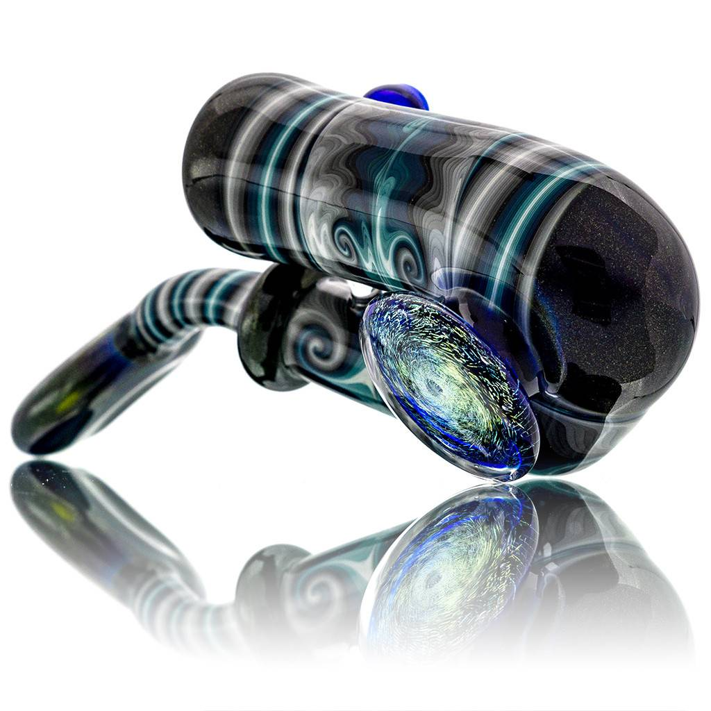 Fully Worked Glass Sherlock Dry Pipe by Mike Fro (D)