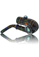 Fully Worked Glass Sherlock Dry Pipe by Mike Fro (E)