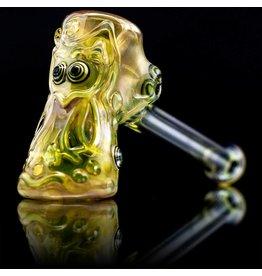 Ginny Snodgrass-Gietl SOLD Ginny Snodgrass-Gietl Owl Glass Dry Pipe (D)