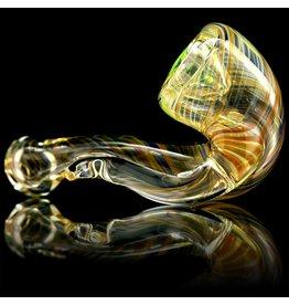 Firekist Glass SOLD Firekist Medium Inside Out Fumed Sherlock Glass Dry Pipe (B)