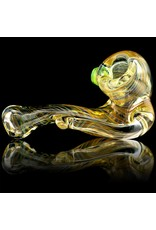 Firekist Glass Firekist Medium Inside Out Fumed Sherlock Glass Dry Pipe (B)