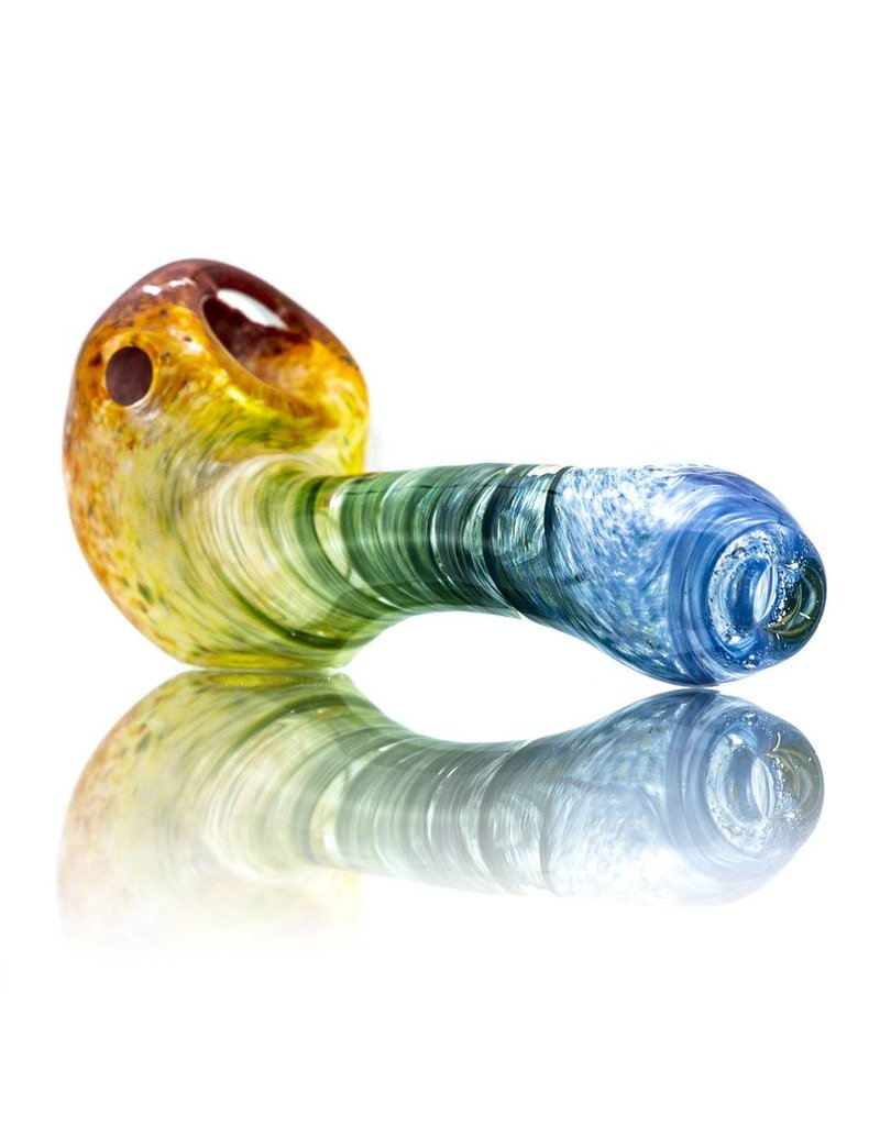 Plug-A-Nug Inside Out Frit Twist Glass Sherlock Dry Pipe (B)