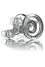 Waldos Wonders 14mm Clear Glass Recycler Dab Rig by Fogz (A)