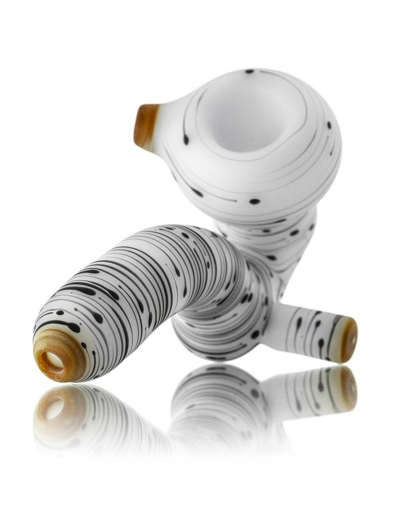 Witch DR Witch DR Birch Themed Frosted Glass Sherlock Dry Pipe (C)